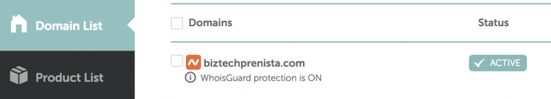 Namecheap Confirm Whoisguard Protection is ON