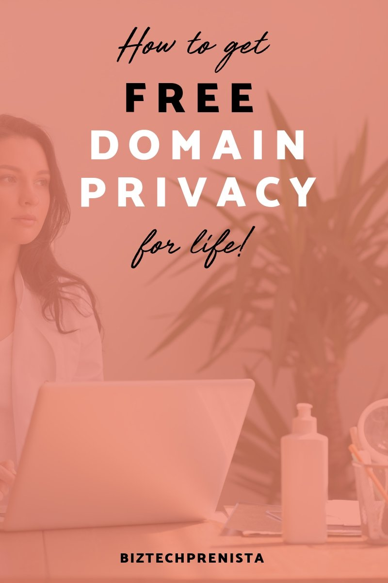 FREE Domain Privacy Protection for Life