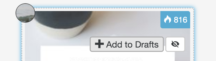 "New ""Add to Drafts"" Button on Pins in Tailwind Tribes"