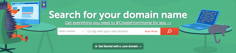 Find a domain name for your blog on Namecheap