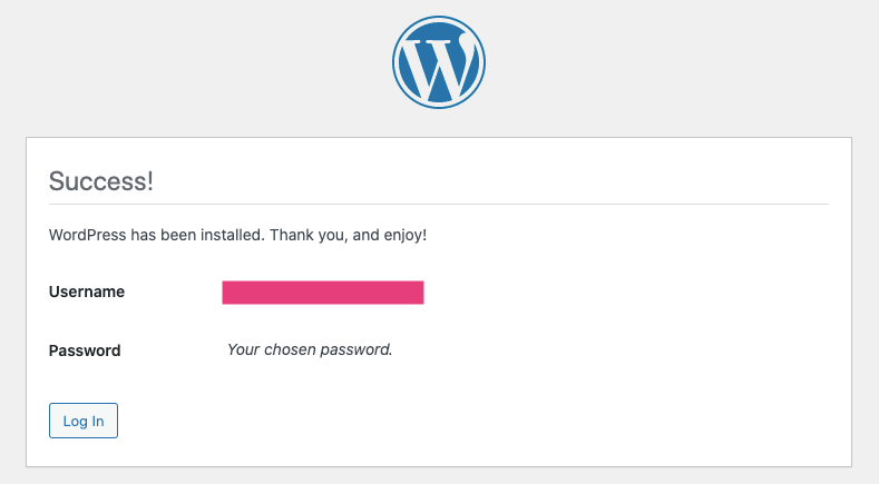 Wordpress Successfully Installed on Ezoic Hosting Staging Site