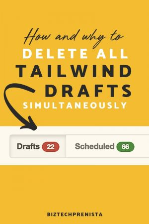 Delete Tailwind Drafts Simultaneously